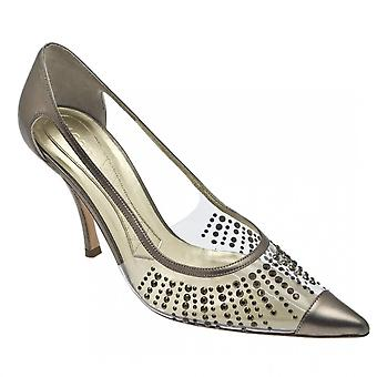 Magrit Pewter Perpex Court Diamonte