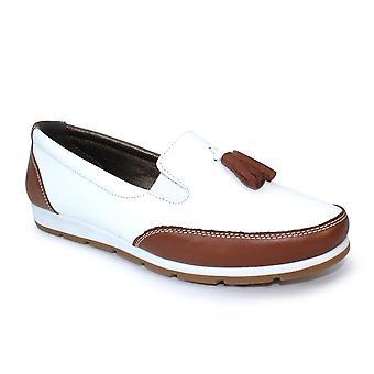 Lunar Belinda Leather Tassel Loafer