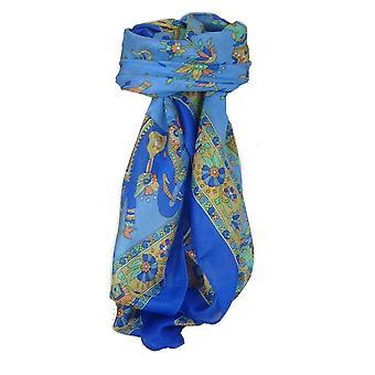 Classic Paisley Square Mulberry Silk Kakaul Französisch Blau von Pashmina & Seide Schal