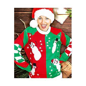 Trajes unisex divertida Navidad suéter de los hombres con muñecos de nieve