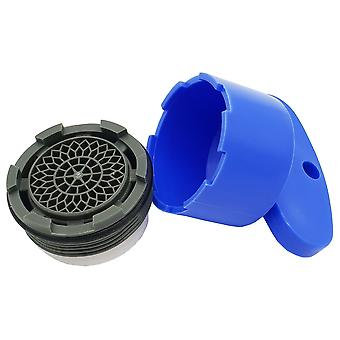 Anti-Vandal 6l/min Faucet Aerator Insert M24 Water Flow Limiter + Opening Key