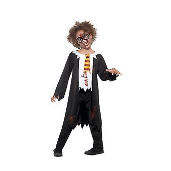 Zombie opiskelija puku, Halloween lapsi naamiaispuku, normaali ikä 7-9