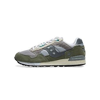 Saucony Grey & Green Shadow 5000 Sneaker