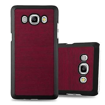 Cadorabo sleeve for Samsung Galaxy J7 2016 - hard case phone cover in vintage wood optics - cover of bumper back case cover