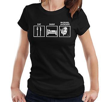 Syö Sleep Michael Jackson naisten t-paita