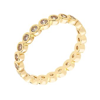 Bertha Juliet Collection Women's 18k YG Plated Stackable Eternity Fashion Ring Size 5