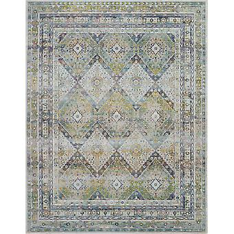 ANKARA GLOBAL ANR07 Blue Green  Rectangle Rugs Traditional Rugs