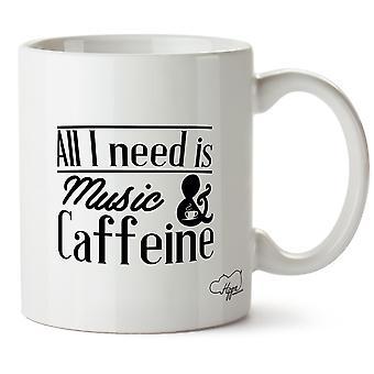 Hippowarehouse все, мне нужно это музыка & кофеин печатные кружки чашки керамические 10oz