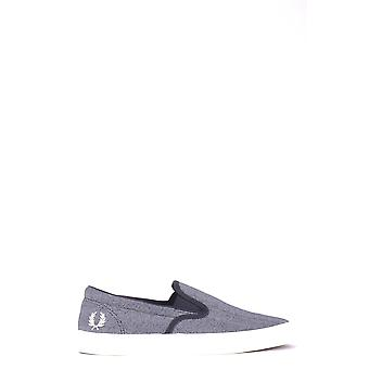 Fred Perry Ezbc094060 Men's Grey Fabric Slip On Sneakers