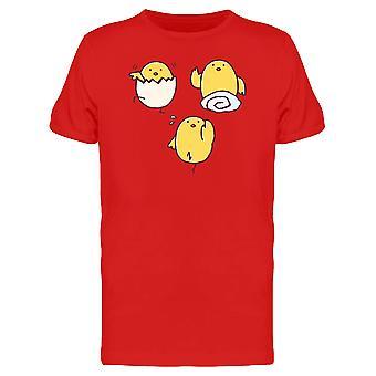Lustiges Huhn Ausübung T-Shirt Herren-Bild von Shutterstock