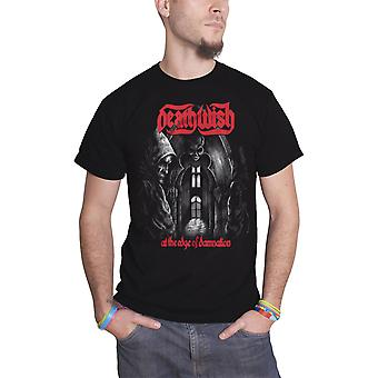 Deathwish T Shirt At The Edge Of Damnation Band Logo new Official Mens Black