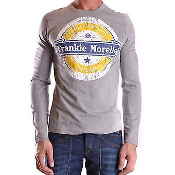 Frankie Morello Ezbc167042 Men-apos;s Grey Cotton Sweater