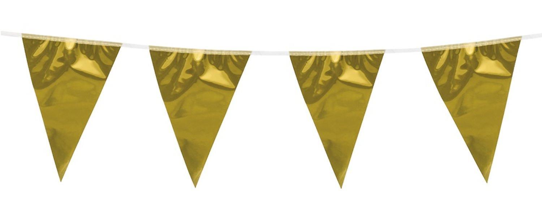 Flaggirlang – Vimpelgirlang Guld - 3 m.