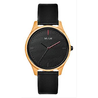 MAM areno Watch-noir/or bois