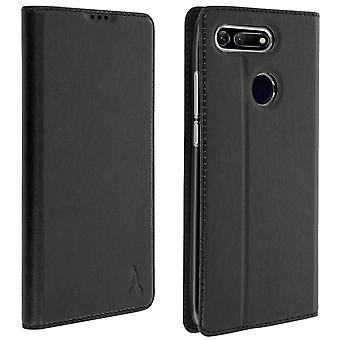 Akashi slim case, flip wallet cover for Honor View 20 - Black
