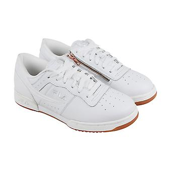 Fila Original Fitness Zipper Mens White Leather Casual Low Top Sneakers Shoes