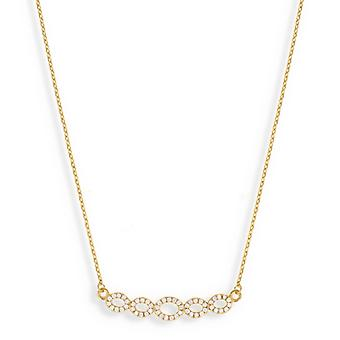 Infinite Gold Plated Necklace With Cubic Zirconia 45cm