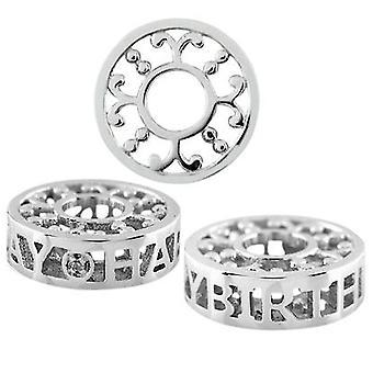 """Storywheels Silver & Diamond """"hyvää syntymä päivää"""" Charm S501D"""