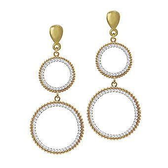 Eternal Collection Kairo kirkas kristalli kulta sävy pyöreä Drop Clip korva korut