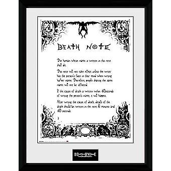 Death Note Death Note gerahmt Collector Print 40x30cm