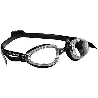 أكوا نطاق K180 سباحة حملق-العدسات واضحة-أسود/فضة