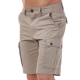 Mens Tokyo Laundry Byrock Cargo Shorts In Stone- Zip Fly- Pockets To Sides-