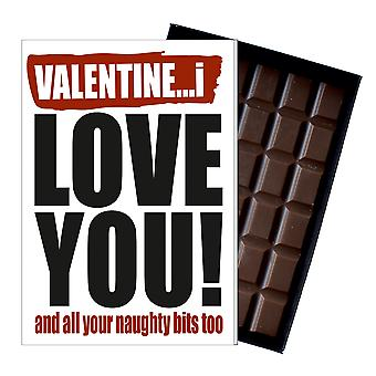 Funny Valentine's Day Gift Rude Naughty Present for Men or Women 85g Chocolate IYF123
