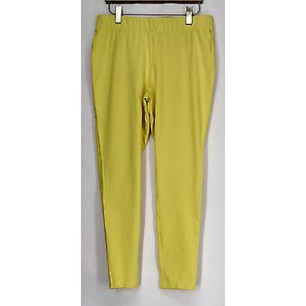 Slimming Options for Kate & Mallory Leggings Shaping Cropped Yellow A408576