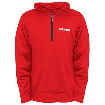 Caterpillar Mens Guardian Quarter Zip Hoodie Red Tide