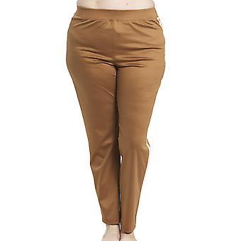 Rosch 1194561-10071 kvinder ' s kurve kamel beige bomuld pyjamas pant