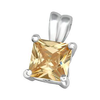 Square - en argent Sterling 925 empierré pendentifs - W5109X