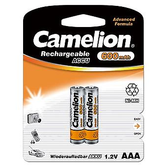2x Camelion rechargeable batteries AAA NiMH 600mAh battery