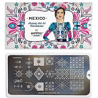 MoYou London Nail Art Image Plate - Mexico 10 (MCMEX)