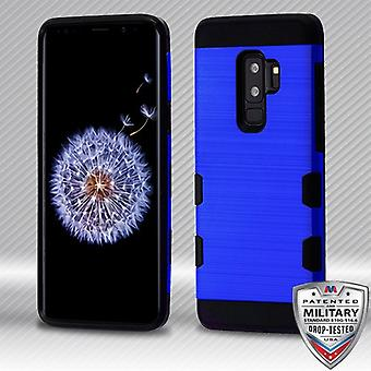 MYBAT Dark Blue/Black Brushed TUFF Trooper Hybrid Protector Cover pour Galaxy S9 Plus