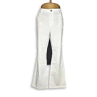 Susan Graver Femmes apos;s Jeans Stretch Twill Fly Front White A298505