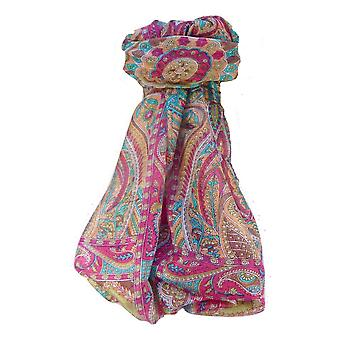 Mulberry Silk Traditional Long Scarf Ramash Pink by Pashmina & Silk