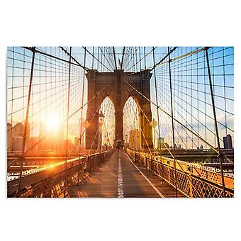 Canvas, Immagine su tela, Alba sul ponte