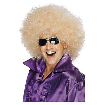 Herre voksne enorme Blonde Afro paryk Fancy kjole tilbehør