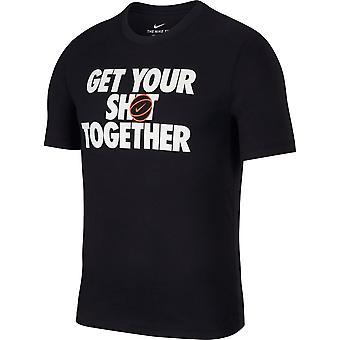 Nike M Dry Tee Shot Together AJ9585010 universal all year men t-shirt