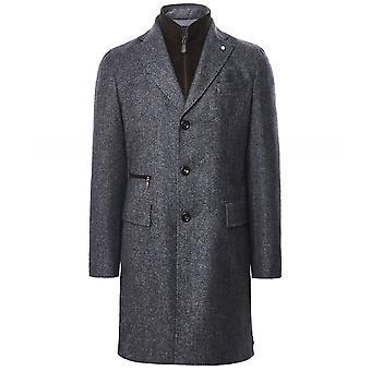 Luigi Bianchi Wool Flannel Removable Bib Coat