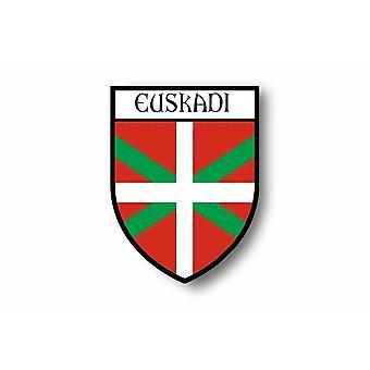 Naklejka Naklejka Motocykl Samochód Blason City Flag Basków Kraj Euskadi