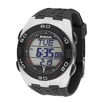 SINAR Homme Wristwatch Digital Quartz Radio Rubber CB-11-1 Noir