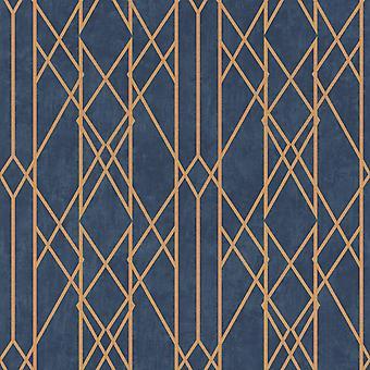 Cartera Lineal Geométrico Wallpaper Rasch