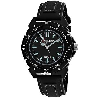Sector Men's Expander Black Dial Watch - 3251197025