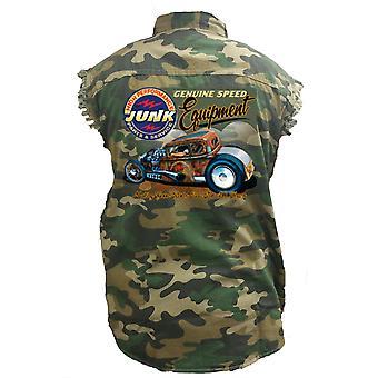 Men's Camo Sleeveless Denim Shirt Genuine Speed Equipment