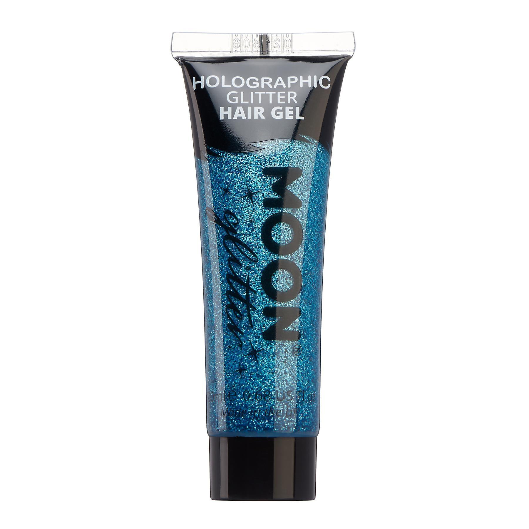 Holographic Glitter Hair Gel by Moon Glitter - 20ml - Blue