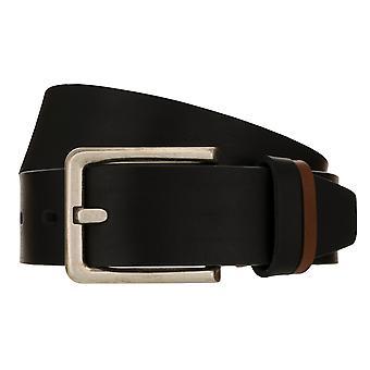 LLOYD Men's Belts Belt Męski pasek skórzany pasek Pełna skóra bydlęca Czarna 8381