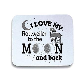White pad mouse mat gen0906 i love my rottweil black