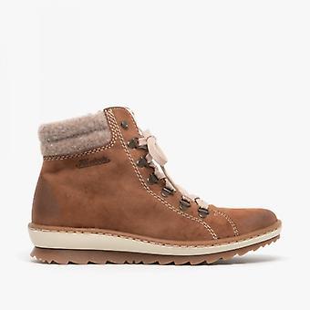 ريكر Z8610-24 السيدات عارضة الكاحل أحذية الغزلان براون