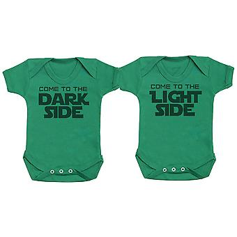 Come To The Dark Side & Light Side, Baby Gift, Baby Boy Gift, Baby Girl Gift, Baby Boy Bodysuit, Baby Girl Bodysuit